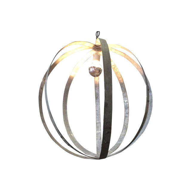 Upcycled Industrial Hanging Lamp - Image 1 of 3