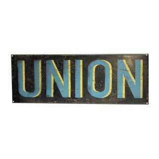 Vintage European Union Wall Sign