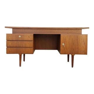 Vintage Executive Teak Danish Modern Desk