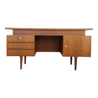 Vintage Executive Teak Danish Modern Desk