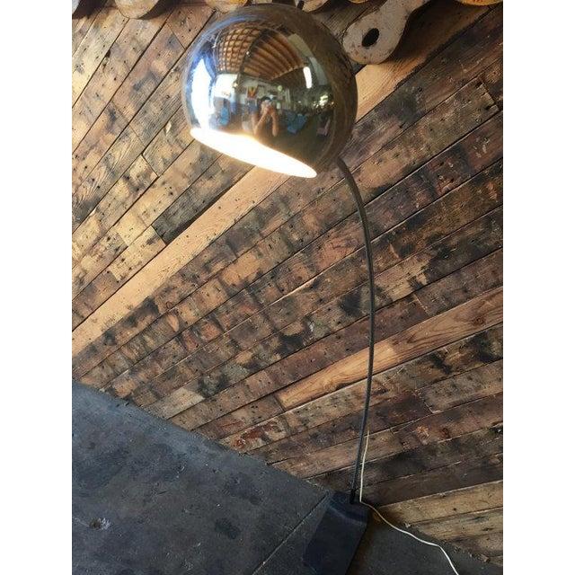 Vintage Arc Chrome Floor Lamp - Image 3 of 4