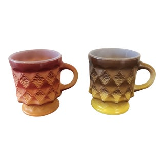 Fire King Kimberly Mugs - A Pair