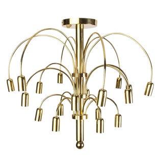 Italian Brass Cascade Chandelier