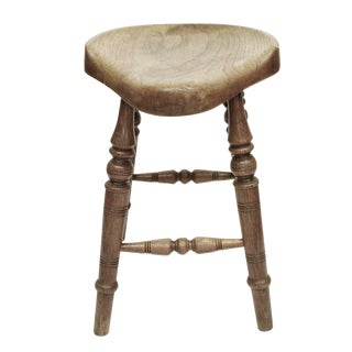 Antique Saddle Seat stool
