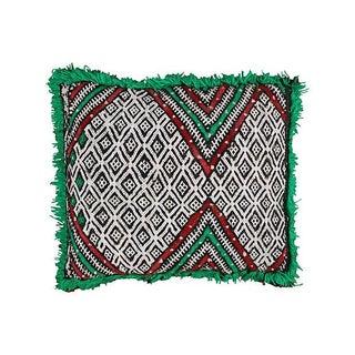 Maroon & Green Diamonds Pillow