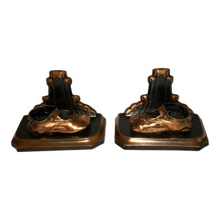 Art Deco Baby Shoe Bookends - Pair