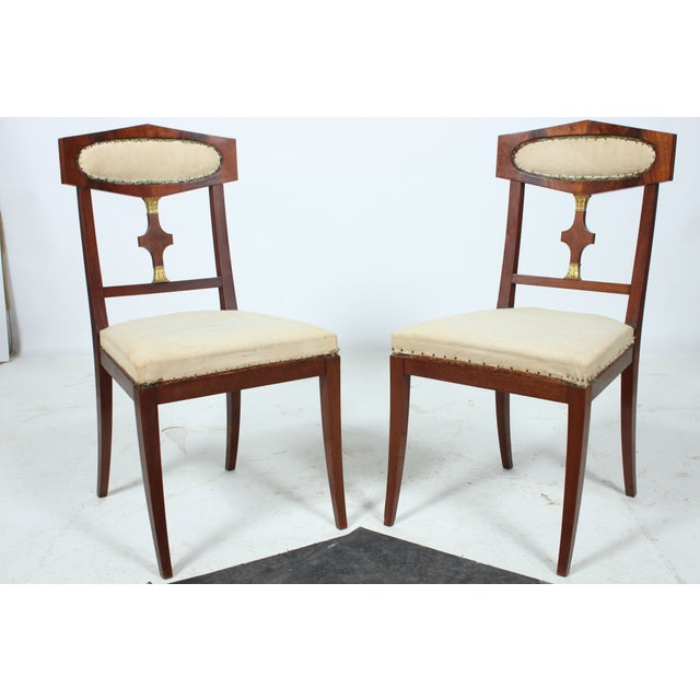 Mahogany Empire Style Library Chair - A Pair - Image 2 of 4