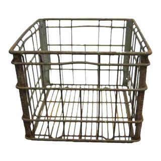 Old Antique Iron Crate
