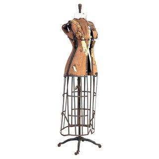 Antique Female Dress with Steel Strap Skirt Form I