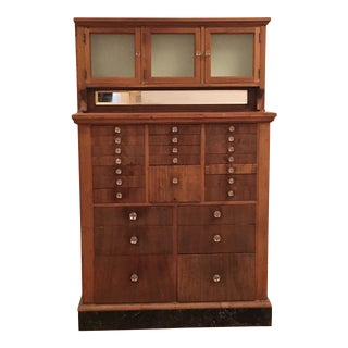 Antique Vintage Dental Cabinet
