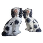 Image of English Spaniel Staffordshire Dogs - a Pair