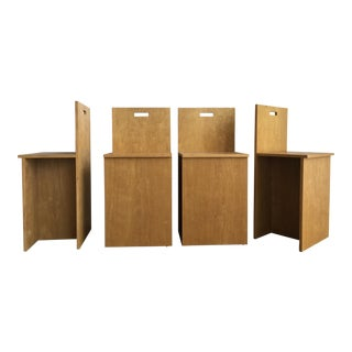 Donald Judd Style Counter Height Stools - Set of 4