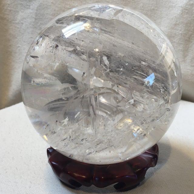 Extra Large Quartz Crystal Ball - Image 2 of 8