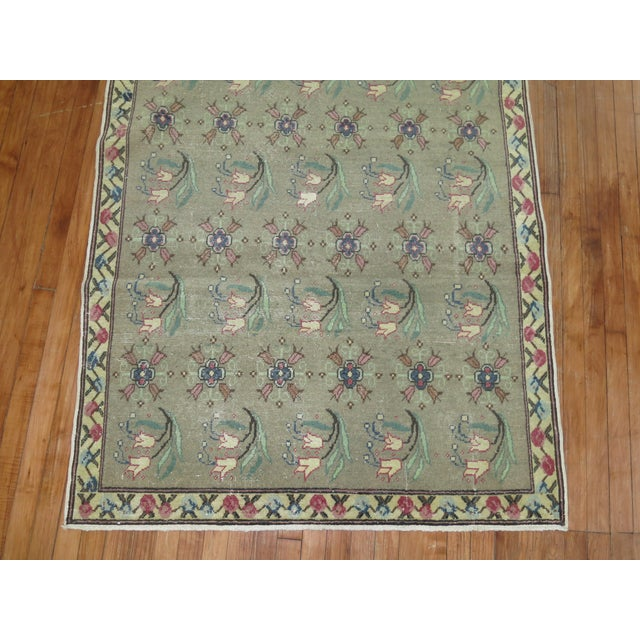 Mint Green Vintage Turkish Rug 4 1 X 6 4 Chairish