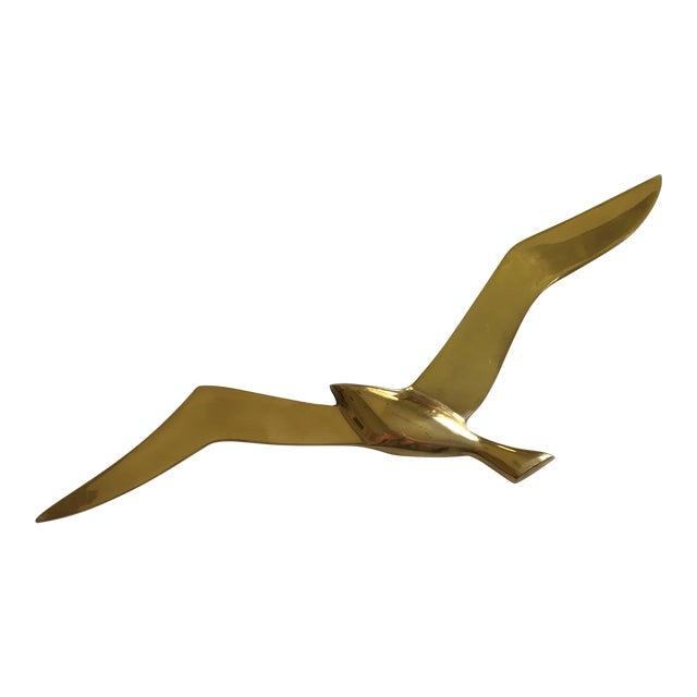 Mid-Century Brass Bird Art - Image 1 of 6