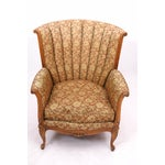 Image of 1940s Channel Back Armchair