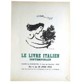 Vintage 1959 Marc Chagall Modern Lithograph