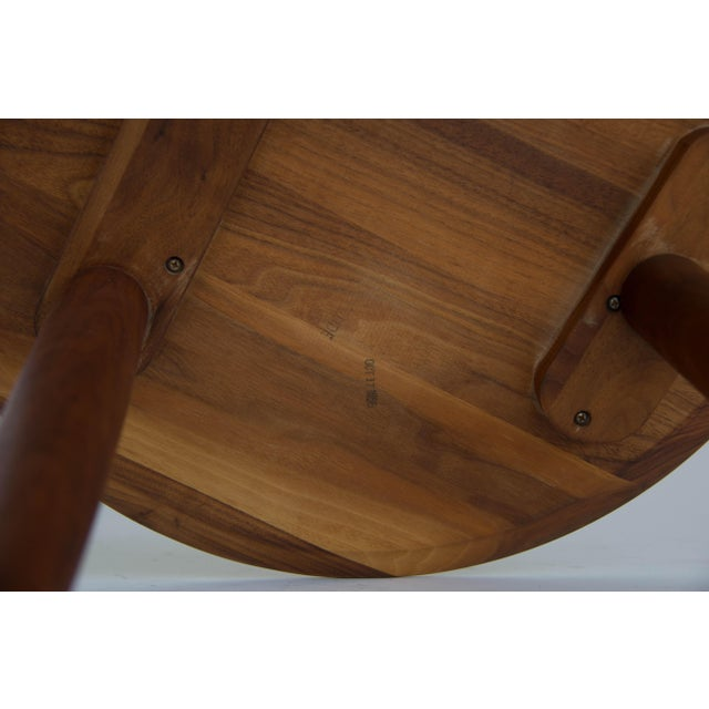 Solid Walnut Round Side Table by Prelude - Image 5 of 6