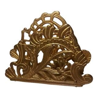 Ornate Brass Letter Holder