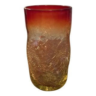 Blenko Amberina Drinking Glass