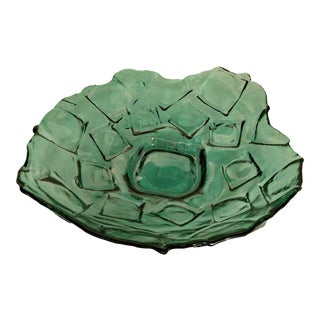 Green Art Glass Bowl