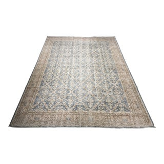 "Vintage Distressed Turkish Oushak Rug - 7'9"" X 9'10"""