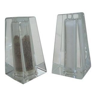 Oleg Cassini Designed Salt & Pepper Shakers - A Pair