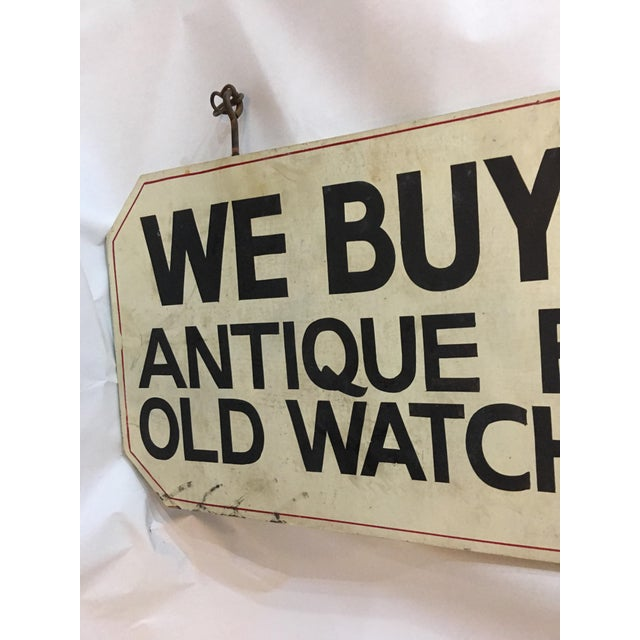 Image of Double Sided Antique Shop Wood Sign