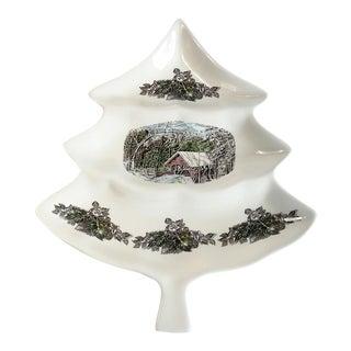 Christmas Tree Serving Dish