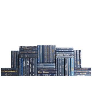 Modern Navy Book Wall - Set of 50