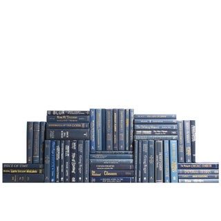 Modern Navy Book Wall - Set of 50