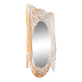 Draped Carved Wood Mirror by Chapman