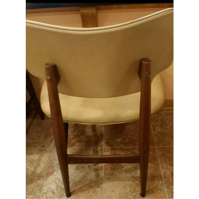 Thonet Mid-Century Yellow Vinyl Chairs - Set of 3 - Image 10 of 11