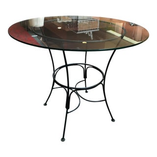 Iron & Glass Dining Table