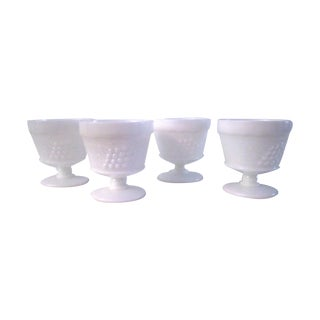 Vineyard Milk Glass Sorbet Glasses- Set of 4