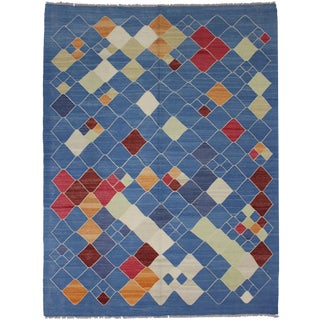 "Hand Knotted Modern Kilim by Aara Rugs - 7'9"" x 6'2"""