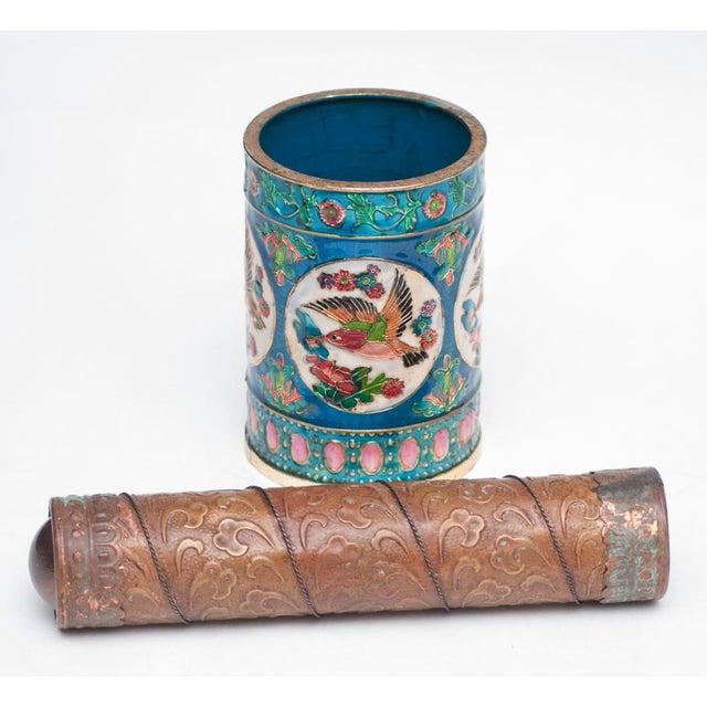 Vintage Peking Brush Pot & Kaleidoscope - Image 5 of 11