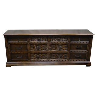 Vintage Widdicomb Jacobean Carved Walnut Dresser