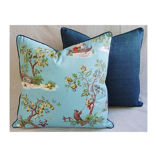 Italian Scalamandre Chinoiserie Pillows - Pair - Image 8 of 9