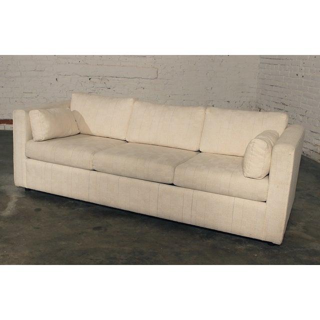 Slipcover Tuxedo Sofa: Mid-Century White Tuxedo Style Sleeper Sofa