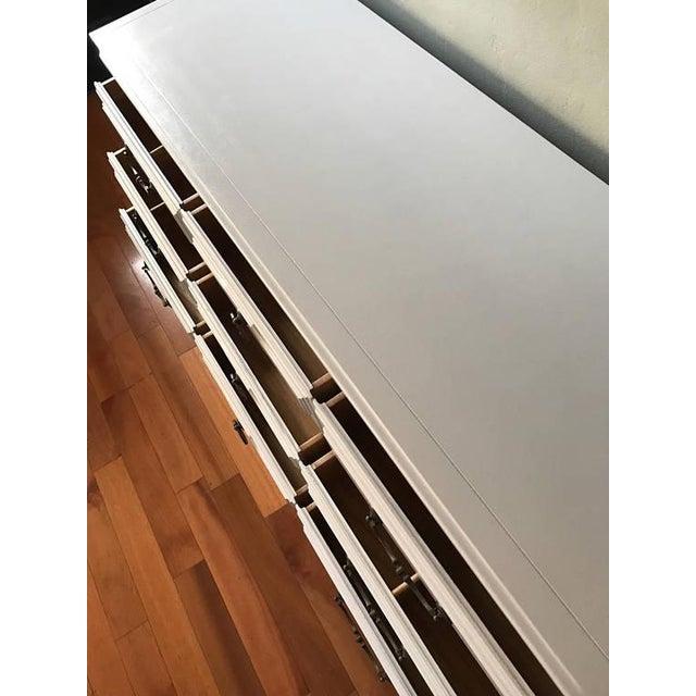 Soft Gray Drexel Mid-Century Dresser Buffet Sideboard - Image 4 of 11