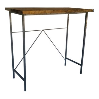 Industrial Pine & Steel Standing Desk