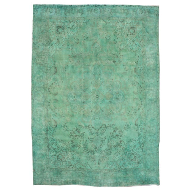"""Persian Overdyed Rug- 9'3"""" X 13'0"""" - Image 1 of 2"""