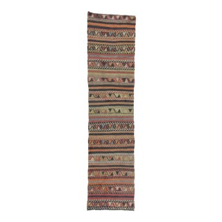 Handwoven Vintage Decorative Turkish Kilim Runner Rug