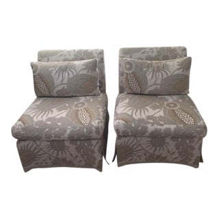 Contemporary Slipper Chairs- A Pair