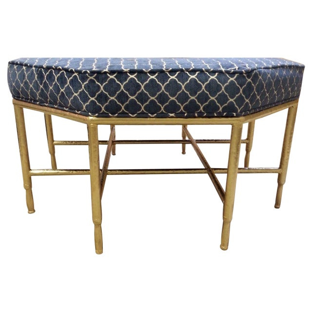 Hollywood Regency Octagon Ottoman - Image 1 of 4