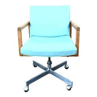Mid-Century Modern Seafoam Green Office Chair