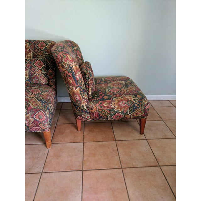 Drexel Heritage Vintage Slipper Chairs - A Pair - Image 3 of 5