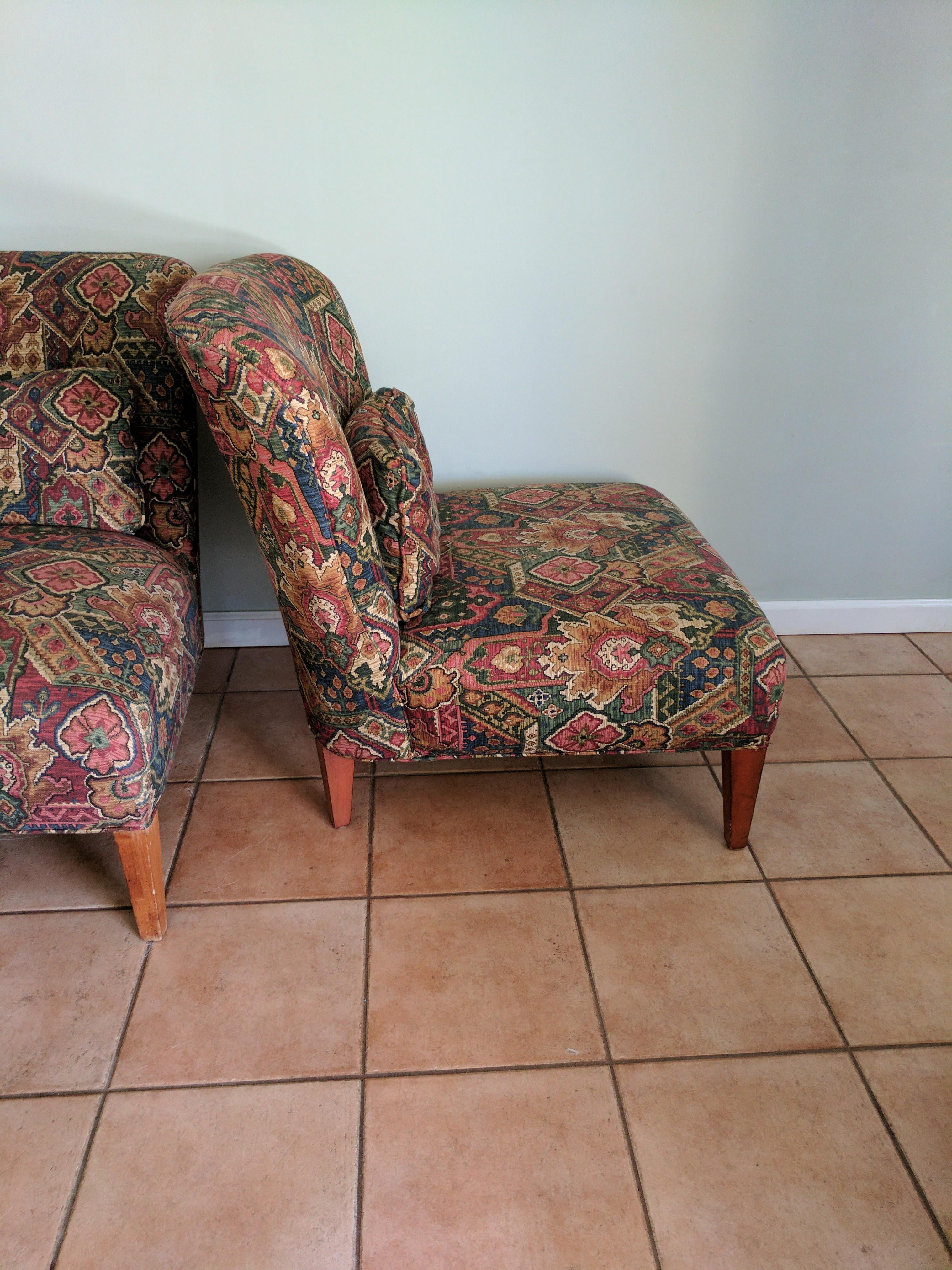 Drexel Heritage Vintage Slipper Chairs   A Pair   Image 3 Of 5