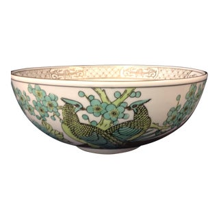 Gold Imari Large Footed Bowl